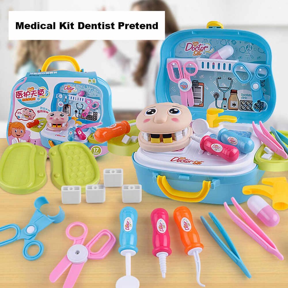 17 Uds Kit médico Doctor enfermera dentista juego de roles juego de juguetes juego de regalo para niños