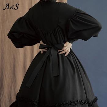 גותי וינטג לוליטה שמלת נשים יפני סגנון ארמון נסיכת שמלות שרוול פנס חמוד מתוקה שמלת מסיבת קוספליי תלבושות