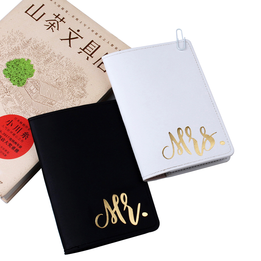 Mr&Mrs Lovers Passport Cover Card Case Women Men Travel Credit Card Holder Travel ID&Document Passport Holder CH12A