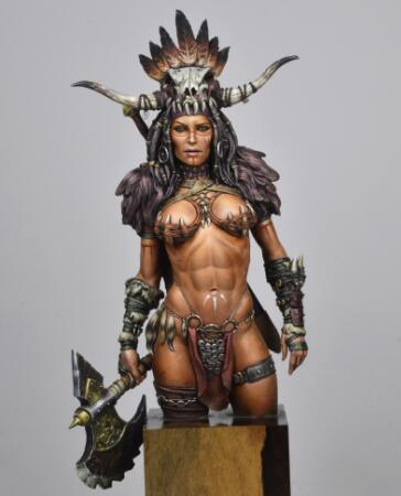 1/10  Ancient Woman Warrior Bust (NO BASE ) Resin Figure Model Kits Miniature Gk Unassembly Unpainted
