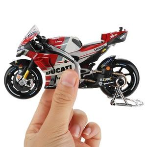Image 1 - Maisto 1:18 motosiklet modeli oyuncak alaşım araba yarışı dağ motosiklet Desmosedici No.4 Motocross oyuncaklar çocuklar için koleksiyon