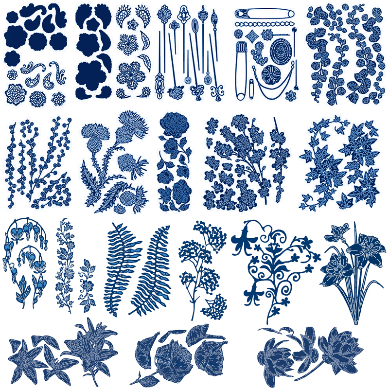 Leaves Metal Cutting Die Scrapbook Album Paper Embossing Stencil Crafts Charm