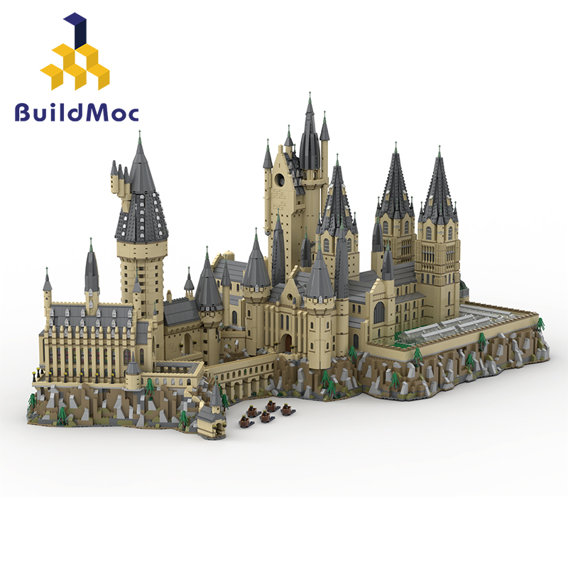 Buildmoc Lepinin 16060 16007 Moive Toys 71043 Magic Castle Compatible Hogwart's Castle Epic Building Blocks Christmas Toys Gifts