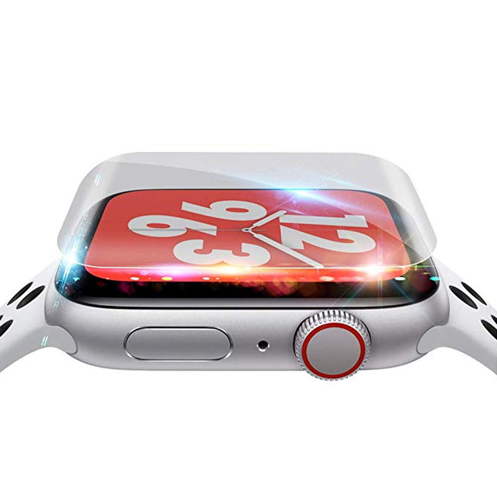 Screen Protector For Apple Watch 4 Band 44mm 40mm 9D Full Coverage Scratch Prevention Protective Hydrogel Film Watch Accessories