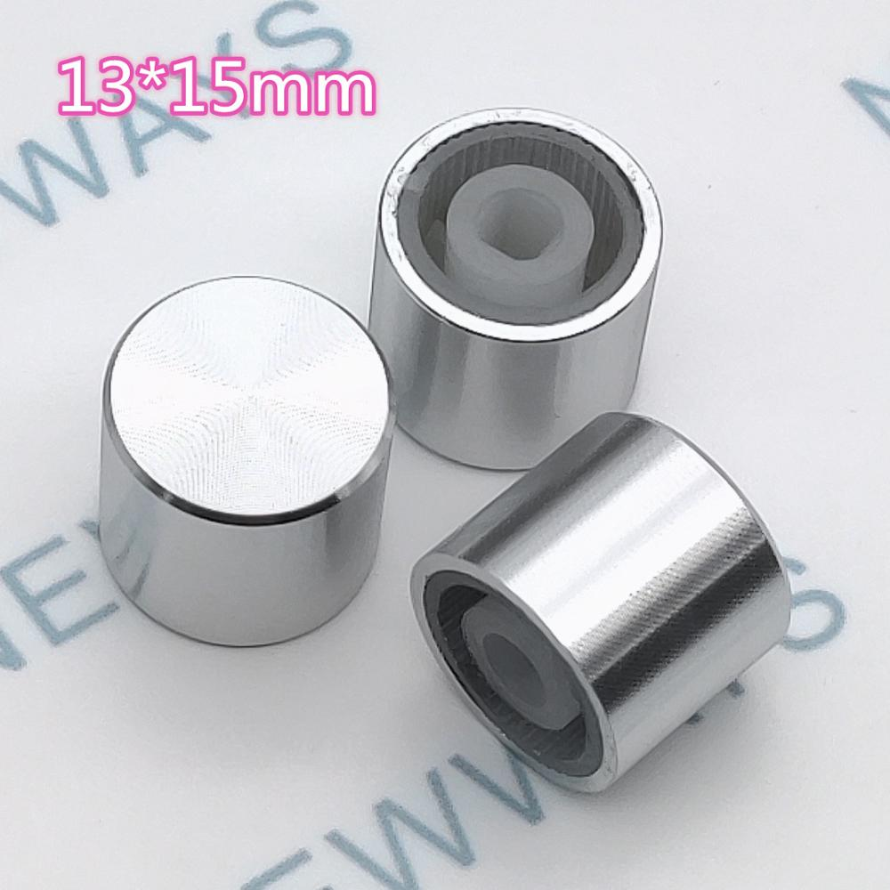 5pcs/Lot Knob Knob Aluminum Silver Aluminum Ecru Diameter 15mm Height 13mm Plastic Heart And Slotted Button Cap