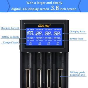 Image 4 - Golisi I4 Smart 18650 26650 20700 Lcdscreen Hiển Thị Sạc USB Sạc Pin Thông Minh Cho Lithium Ion Ni MH Ni Kèm CD