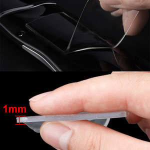 Image 3 - Double Sided Tapes Silica Gel Self Adhesive 1mm Super Transparent Traceless Double sided Tape for Kitchen Home Car Multiple Uses