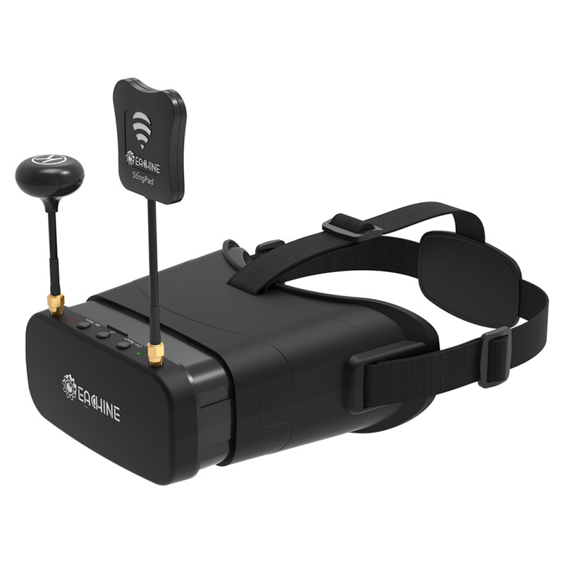Eachine EV800DM Varifocal 5.8G 40CH diversité FPV lunettes avec HD DVR 3 pouces 900x600 casque vidéo construire dans la batterie - 5