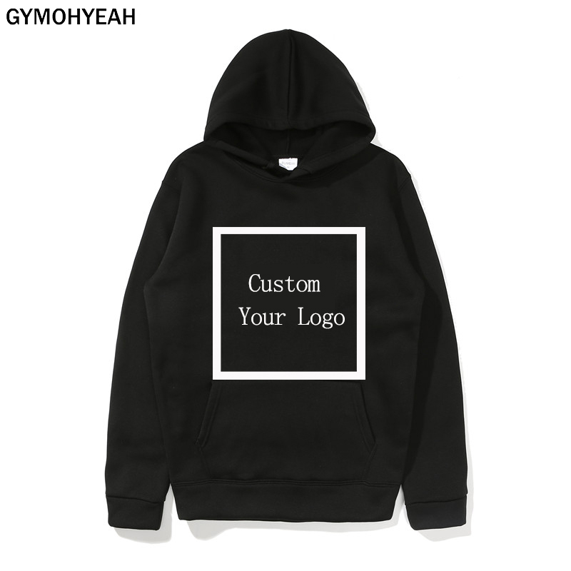 GYMOHYEAH Customized Logo Print Hoodies Men Sweatshirts Quick Drying Hoodies Unisex DIY Logo Streetwear Drop Shipping Clothing