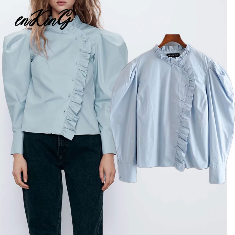 UK New Women Striped Turn Down Collar Loose Tops Tee Button Vintage Shirt Blouse