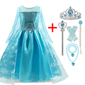 2021 Girls Princess Dress Halloween Party Cosplay Costume For Kids Snow Queen Elsa Children Fancy Dress Up Role Playing Disguise