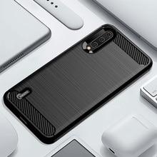 Cassa del telefono Per Xiaomi Mi A3 UN 3 di Lusso In fibra di Carbonio Della Copertura xiami CC9 CC9e CC C 9e C9 C9e 9 morbido MiA3 MiCC9 MiCC9e Coque Del Silicone