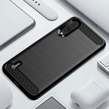 Funda de teléfono para Xiaomi Mi A3 un 3 de lujo, cubierta de fibra de carbono xiami CC9 CC9e CC C 9e C9 C9e 9 suave MiA3 MiCC9 MiCC9e Coque de silicona