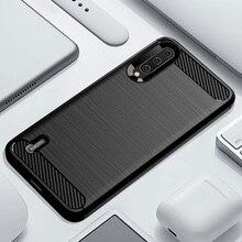 Telefoon Case Voor Xiaomi Mi A3 Een 3 Luxe Carbon Fiber Cover Xiami CC9 CC9e Cc C 9e C9 C9e 9 Zachte MiA3 MiCC9 MiCC9e Coque Siliconen