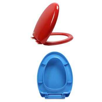 Universal Pp Thickening Toilet Cover Plastic Descending Round Tip Color Toilet Seat Cover Toilet Cover