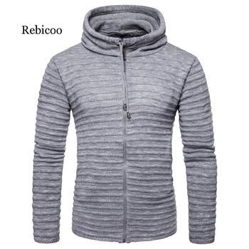 Sweater men 2019 autumn warm brand men's long sleeve creative stitching men's hooded sweater slim sweater sweater casual sweater sweater