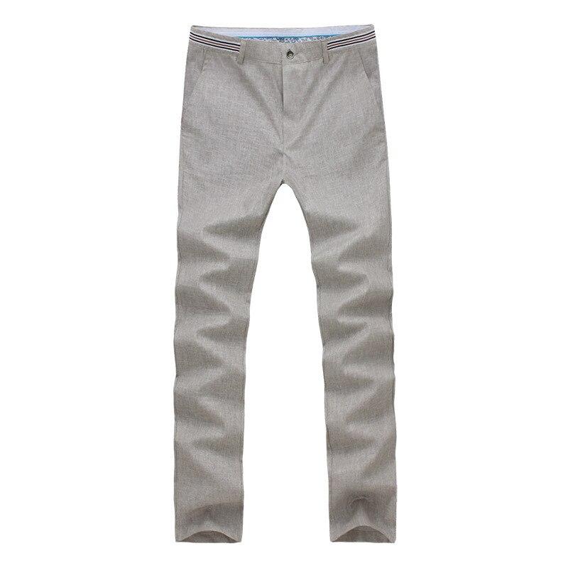 -Tile MEN'S Casual Pants Summer Thin Section Cotton Linen Pants Business Loose Linen Pants