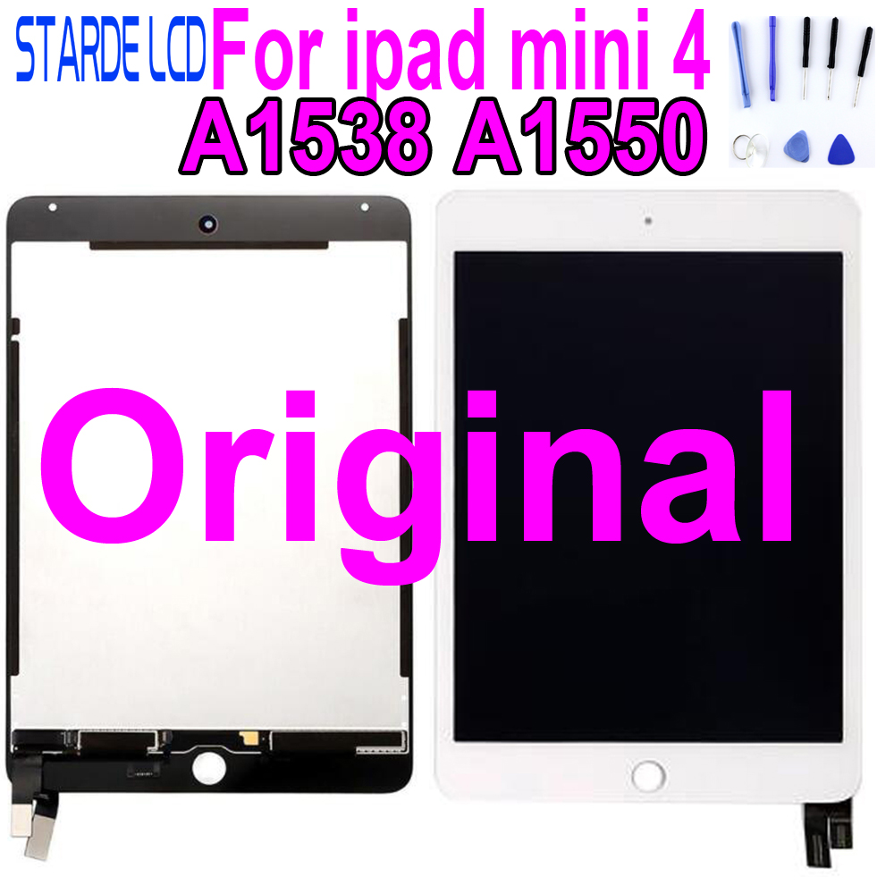 Original Lcds For iPad mini 4 LCD Mini4 A1538 A1550 LCD Display Touch Screen Digitizer Panel Assembly Replacement Part