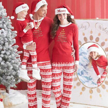 2020 New Year Family Christmas Pajamas Family Matching Outfit Father Mother Daughter Girl Boy Clothing Sets Pyjamas Family Look