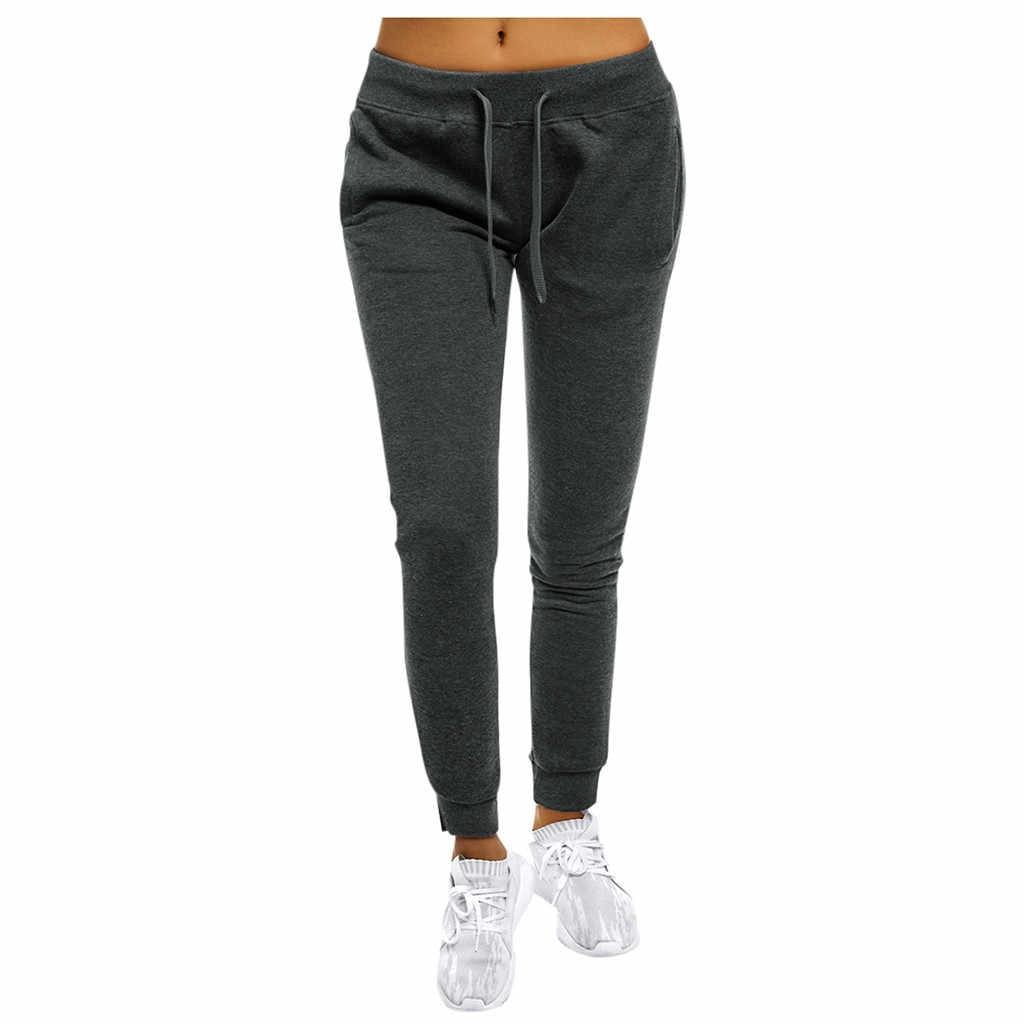 สบายๆ Lace Up กางเกง Joggers ผู้หญิง Sweatpants กางเกงผู้หญิงกางเกงผ้าฝ้ายผู้หญิงกางเกงขาสั้นผู้หญิงผู้หญิงธรรมดา Pantalon Femme # G30