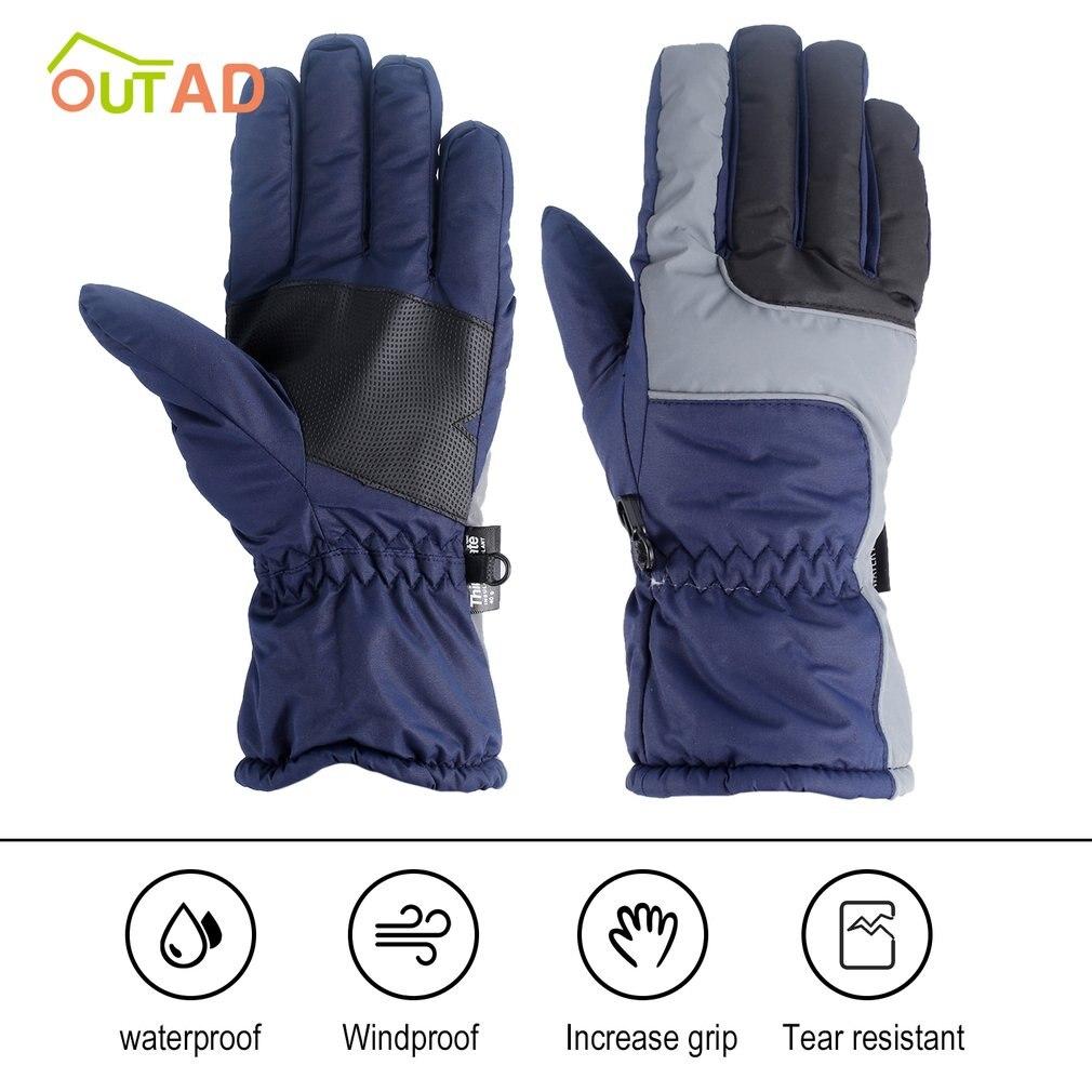 Перчатки OUTAD мужские зимние, мягкие, прочные дышащие, ветрозащитные и водонепроницаемые, теплые лыжные перчатки для скалолазания