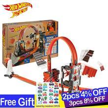 цена на Hotwheels Carros Track Model Cars Train Kids Plastic Metal Toy-cars-hot-wheels Hot Toys For Children Juguetes DWW96