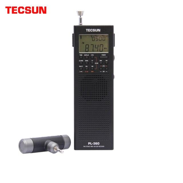 Tecsun PL 360 Полнодиапазонный FM/MW/LW/SW цифровая Демодуляция Карманный стерео ручной полупроводниковый зарядный радиоприемник для пожилых людей