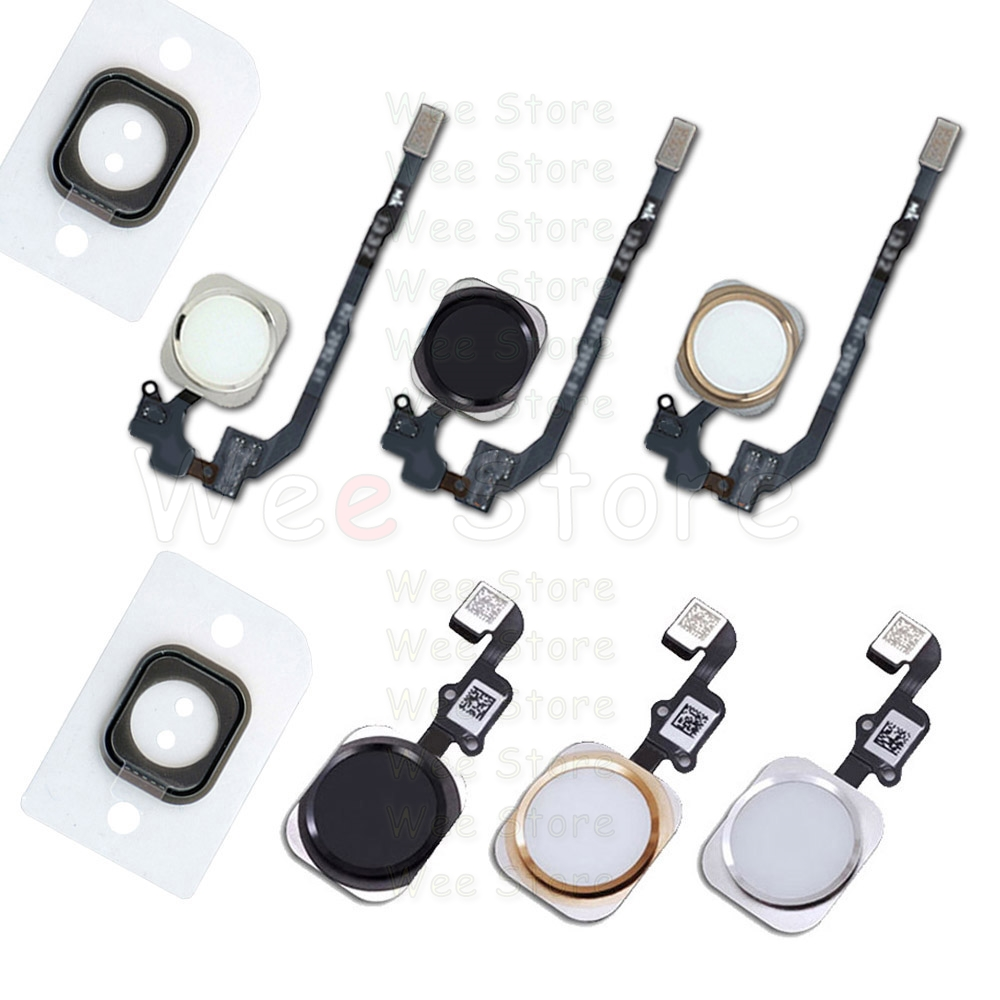 Home Button With Flex Cable For IPhone  6s 6 Plus 5s SE 6G 6Plus Return Back Home-Button Flex Assembly Free Shipping