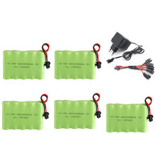 6v 2400mah NIMH Battery + 6v Charger set For Rc toys Cars Boats Tanks Trucks Robots Guns AA 6v Rechargeable Battery Pack(China)