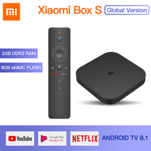Original Global Xiaomi Mi TV Box S 4K HDR Android 8.1 2G 8G