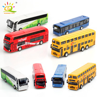 4pcs/Set Indoor Collection Alloy Bus Toy Bus Model Diecasts & Toy Vehicles Desk Alloy bark of the Car Toy Pocket Decoration