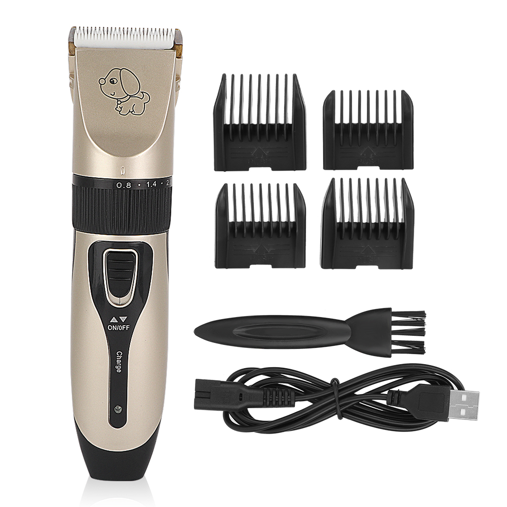 TINGHAO USB Electric Low-Noise Pet Hair Clipper Remover Cutter Grooming Cat Dog Hair Trimmer Electrical Pets Hair Cut Machine