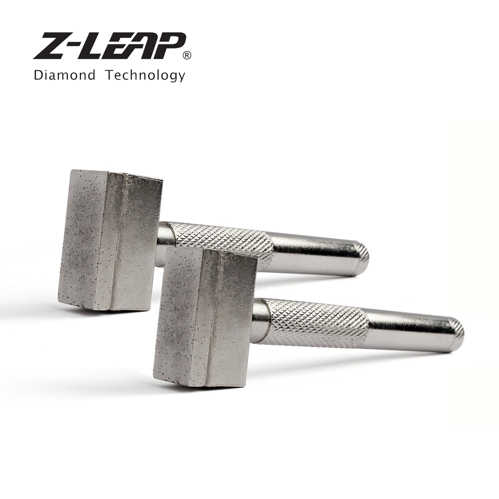 Z-LEAP 2PCS Diamond Grinding Wheel Dresser 11cm Hot Press Sintered Diamond Handle Head Abrasive Wheels Dressing Reshapes Tools