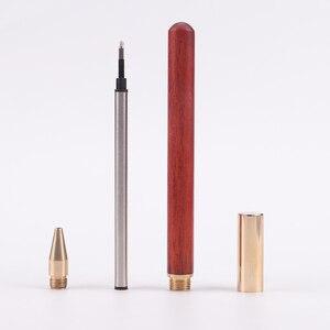 Image 5 - 3 adet/grup ahşap pirinç tükenmez kalemler 0.5mm mürekkep tükenmez kalem yazma için toptan 2026