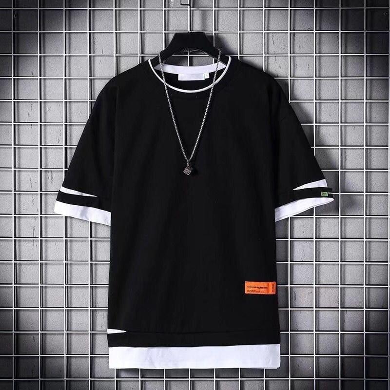 2020 Fashion Men T-shirt Slim Fit Hole T-shirt Men Hip Hop Streetwear O Neck Short Sleeve Fitness T-shirt Tee Shirt Homme