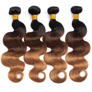 T1B/4/30 блонд, Омбре, человеческие волосы, пучки, объемная волна, пряди, не-Реми, волосы для наращивания, перуанские бразильские волосы, плетени...