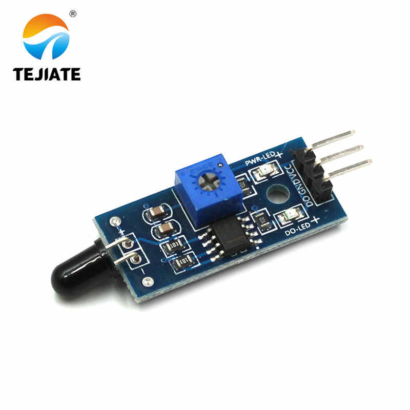 1 Pcs Modulo Sensore di Fiamma Sorgente di Fuoco di Rilevamento Del Dispositivo di Ricezione a Infrarossi Fuoco Modulare La Luce di Allarme