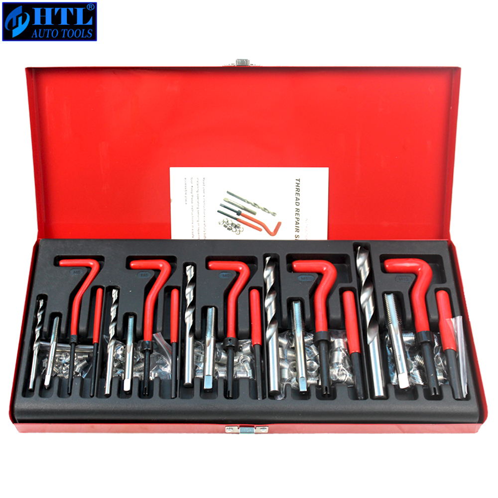 131 Pcs Engine Block Restoring Damaged Thread Repair Tool Kit M5 M6 M8 M10 M12 Professional