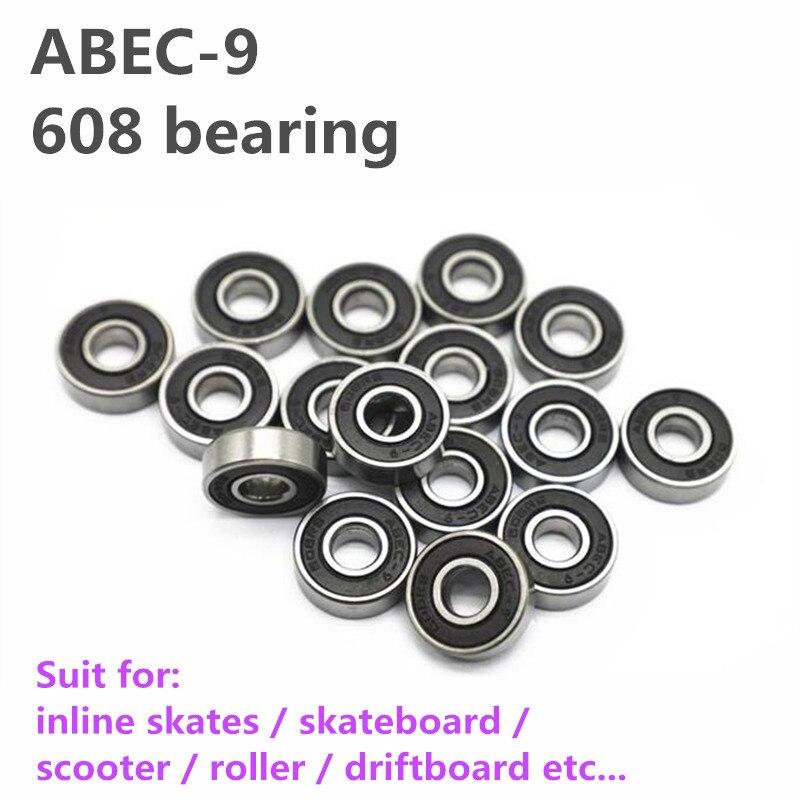 Abec9 Bearing For Skateboard Inline Skates Patines Abec-9 Bearing Roller Skate Board 608 Scooter Skating Bearing Driftboard 8pcs