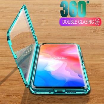 Перейти на Алиэкспресс и купить Магнитный металлический двухсторонний стеклянный ЧЕХОЛ ДЛЯ Vivo Y30 Y50 с полным покрытием для Vivo Y19 U3 Y5S Y3 Y12 Y15 Y17 Pro Y11 2019 чехол