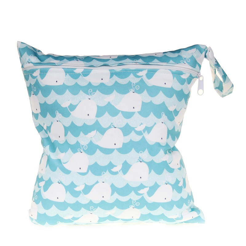 [CHOOEC] 2019 New Wet Bag Washable Reusable Cloth Diaper Nappies Bags Waterproof Swim Sport Travel Carry Bag Big Size: 28X30 Cm