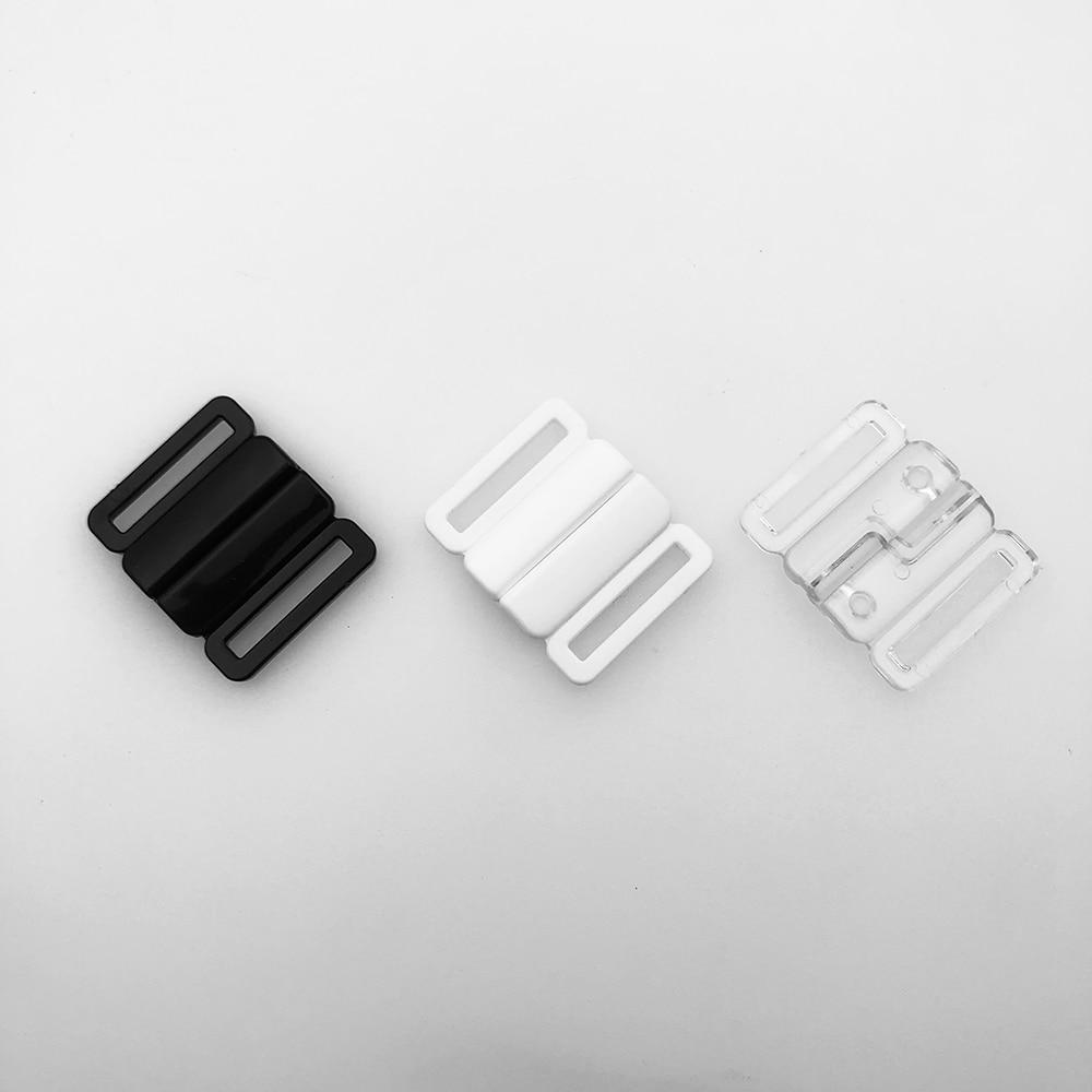 High quality 20mm 60 sets / lot plastic bra buckles front closure swimwear clip bikini clasp 3 color