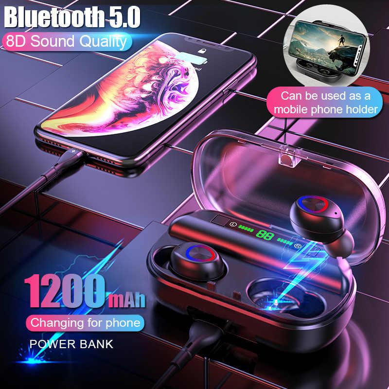 Bluetooth イヤフォンタッチステレオワイヤレス Bluetooth イヤホン防水 V10 Led ディスプレイをキャンセルする