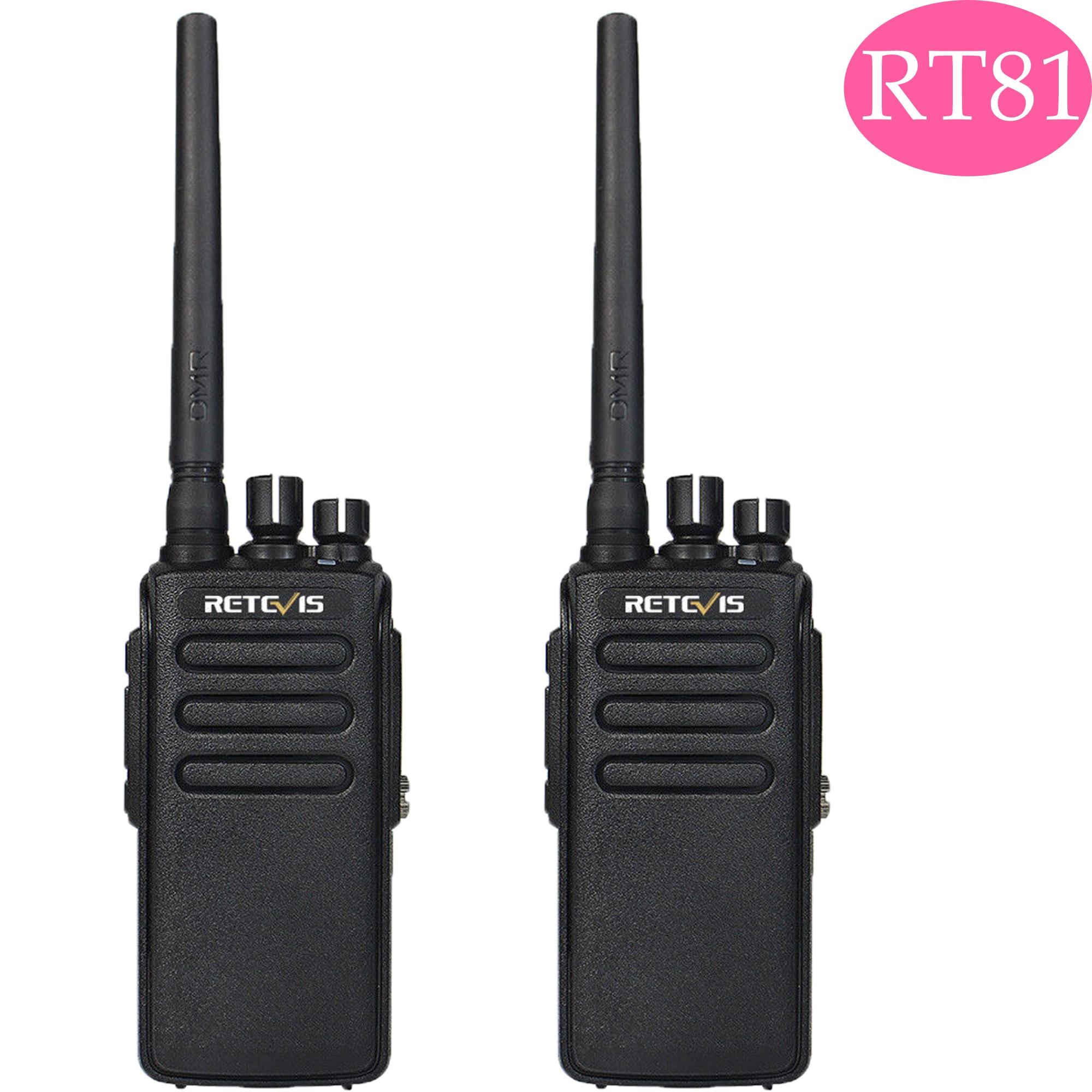 Retevis RT81 DMR Radio Digital Walkie Talkie Waterproof IP67 Walkie Talkies 2 Pcs UHF Two-way Radio Transceiver Walkie-talkie