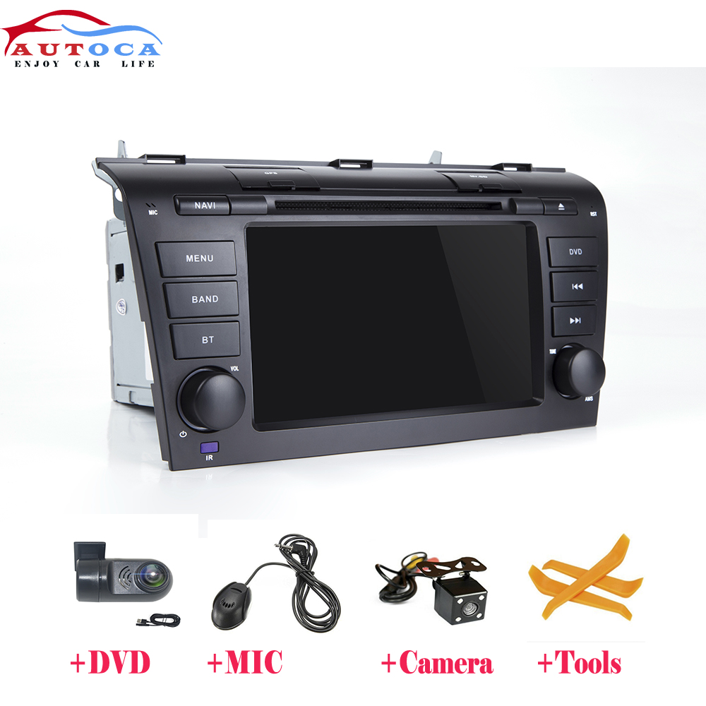 2 Din Android 9.0 Car multimedia dvd player GPS For <font><b>Mazda</b></font> <font><b>3</b></font> mazda3 2004 2005 2006 <font><b>2007</b></font> 2008 2009 car <font><b>radio</b></font> stereo image