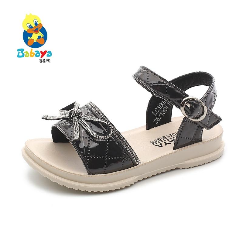 Babaya Girls Sandals Princess Shoes Children Open Toe Breathable Cute Bow 2020 Summer New Fashion Beach Sandals