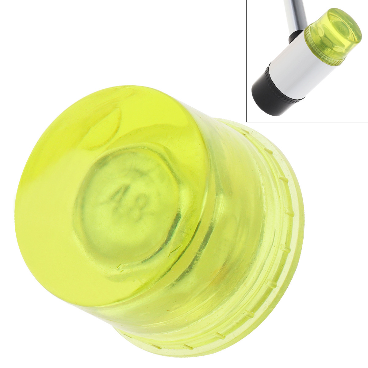 30mm 35mm 40mm Rubber Hammer Head Double Faced Work Glazing Window Beads Hammer with Replaceable Nylon Hammer Head Mallet Tool