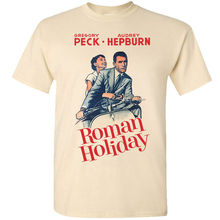 Roman Holiday V8, W.Wyler, movie poster 1953, T-Shirt (WHITE) all sizes S-5XL Sleeve T Shirt Summer Men Tee Tops Clothing