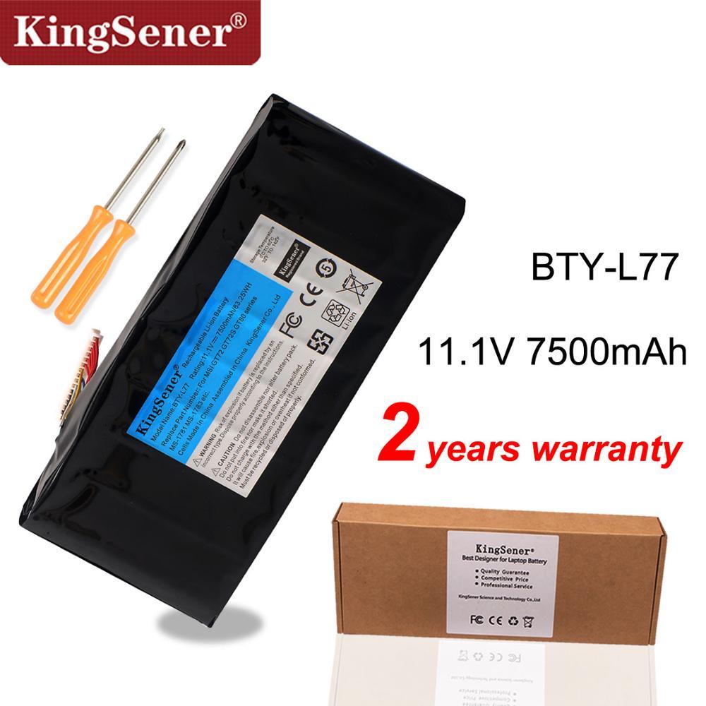 KingSener BTY-L77 Laptop Battery For MSI GT72 2QD GT72S 6QF GT80 2QE GT80S WT72 MS-1781 MS-1783 2PE-022CN 2QD-1019XCN 2QD-292XCN