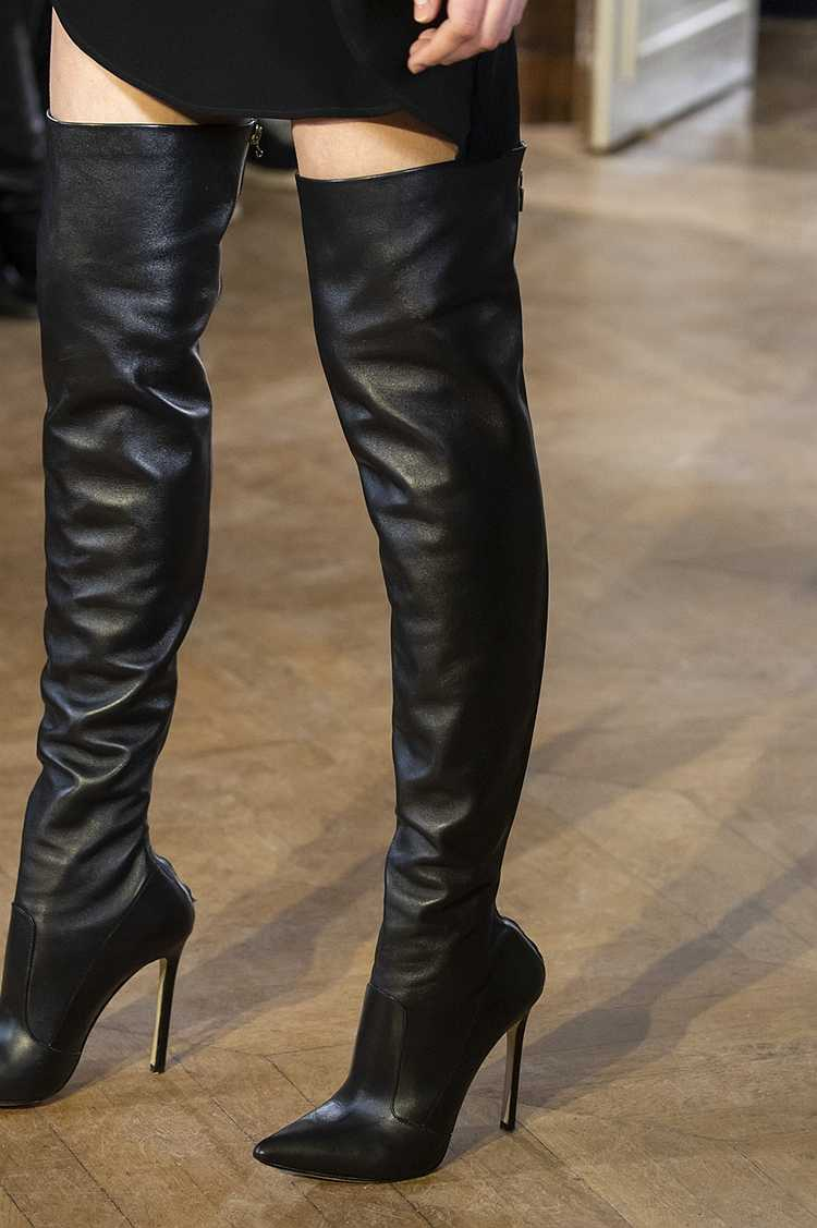 Şampanya altın pist yüksek topuk çizmeler deri diz kış kadın ayakkabı uyluk yüksek görünüyor ince bayan botları